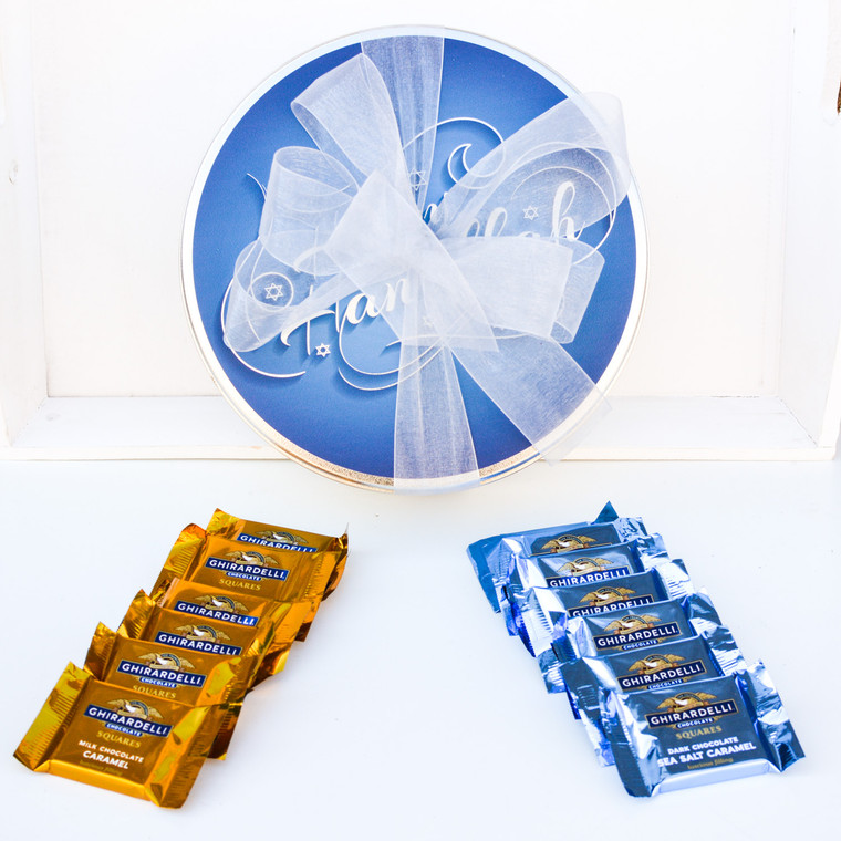 Happy Hanukkah Chocolate Gift Tin - FREE SHIPPING