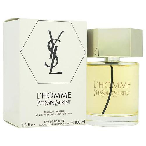 Yves Saint Laurent L'Homme Eau De Toilette 3.3 oz / 100 ml For Men WHITE IN BOX