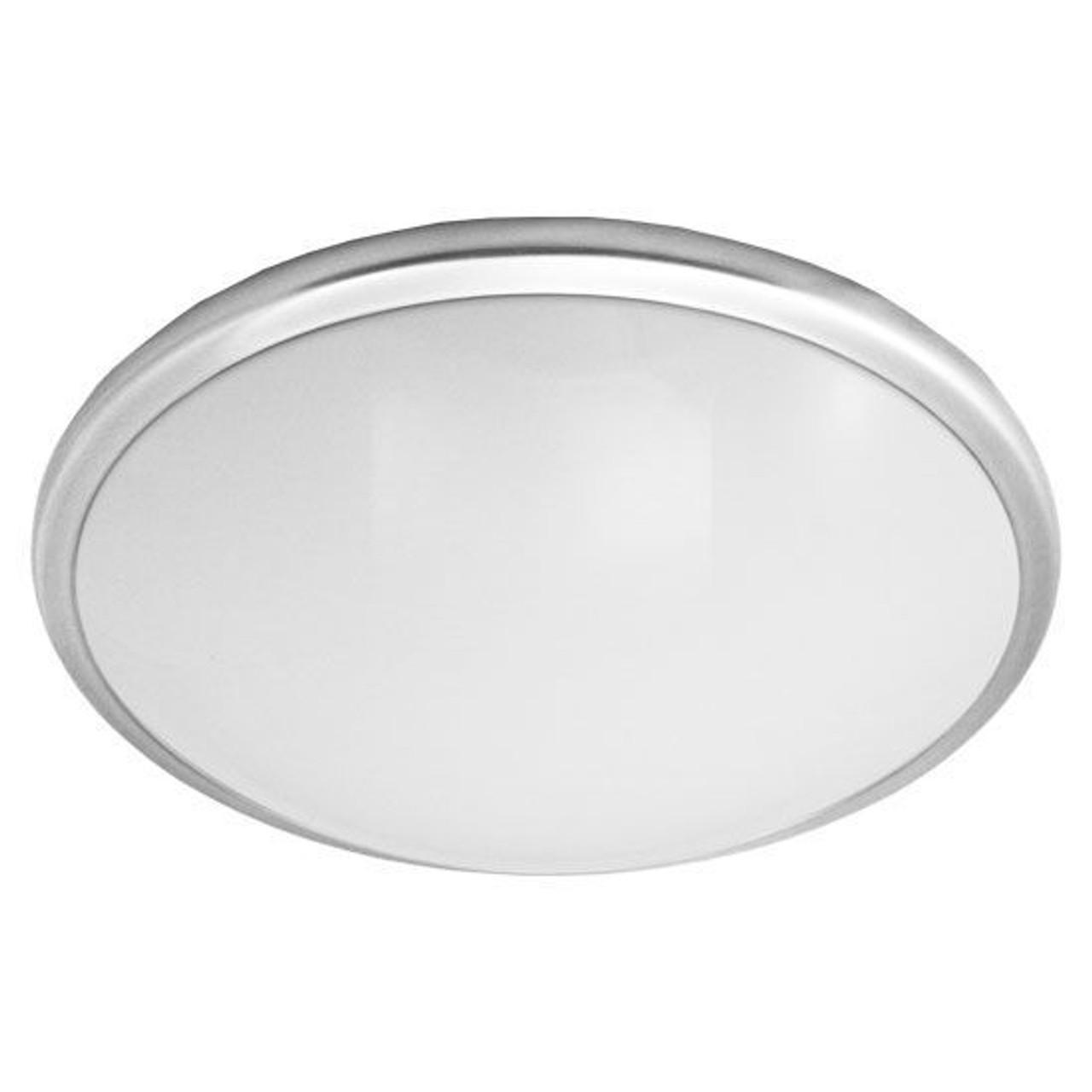 21 Large Round Low Profile Ceiling Light Brushed Nickel Rim 23w Led 4000k Ilighting Com