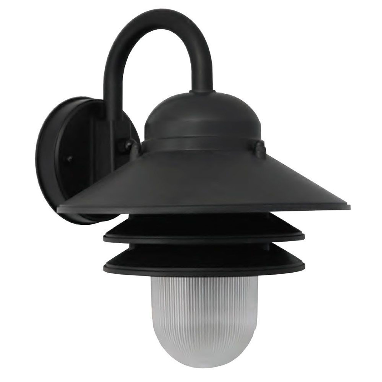 Black Nautical Tiered Outdoor Led Wall Light