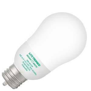 Litetronics Micro Brite MB-801DP 8W A19 Purewhite Dimmable CCFL
