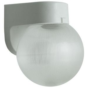 11.3W LED White Porch Light Fixture Clear Prismatic Globe 4000K