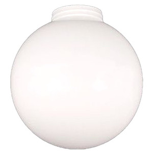 Replacement White 8 Inch Outdoor Acrylic Threaded Light Globe