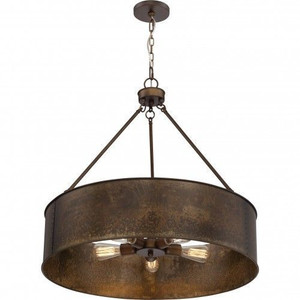 Nuvo 60-5895 Weathered Brass 5 Light Ceiling Mount Fixture