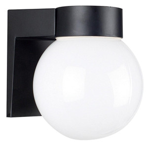 "Sunset F4617-31 Black 1 Light 7"" Height Outdoor Wall Sconce"