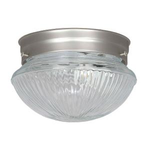 Sunset F6108-53 Clear Prismatic Glass 1 Light Ceiling Mount Overhead Light Fixture