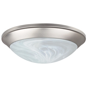 Sunset F7177-53 Twist on Faux Alabaster Glass 2 Light Flush Mount Overhead Light Fixture