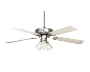 """Sunset CF52848-53-L 52"""" 5-Silver Oak/Rosewood Blades Satin Nickel Home Air Ceiling Fan with Light Kit"""
