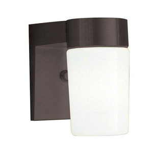 "Sunset F4511-31 Black 1 Light 7"" Height Outdoor Wall Sconce"
