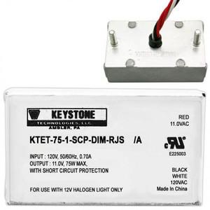 Keystone KTET-75-1-SCP-DIM-RJS 75W Dim 12V Halogen Transformer