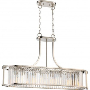 Nuvo Lighting 60-5765 Krys Polished Nickel 4 Light Crystal Trestle With 60w Vintage Lamps Inc.
