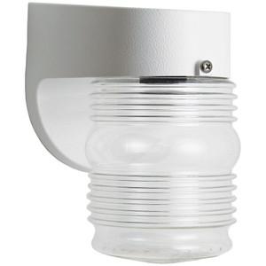 11.3W LED Jar Lens Wall Mount White Porch Light Fixture 4000K