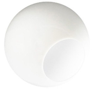Replacement White 14 Inch Outdoor Acrylic Light Globe Neckless