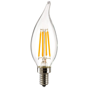 Sunlite 80442-SU CFC/LED/AQ/4W/E12/DIM/CL/27K 4 Watt 2700K