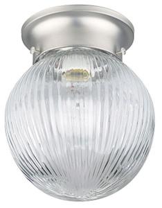 Sunset F2201-53 Clear Prismatic Glass 1 Light Ceiling Mount Overhead Light Fixture