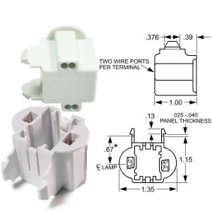 Edwin Gaynor 1185-13-HS GX23 GX23-2 Horizontal 13W Snap Socket