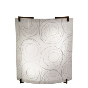 23W LED Whimsey White Acrylic Curved Wall Sconce Bronze Accents 4000K