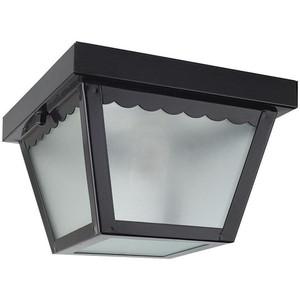 "Sunset F2400-31 Black 1 Light Outdoor 8"" Wide Flush Mount Ceiling Fixture"
