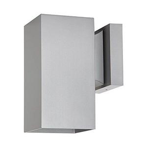 Sunset F6891-58 1-Light Silver Powder Coat Square Aluminum Exterior Wall Sconce
