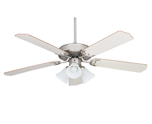 "Sunset CF52836-53-L 52"" 5-Rosewood/Silver Oak Blades Satin Nickel Heritage Home Ceiling Fan with Light Kit"