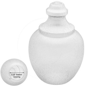 Replacement Clear 16 Inch Outdoor Polycarbonate Post Light Acorn