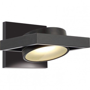 Nuvo Lighting 62-993 Textured Black 1 Light LED Pivoting Head Wall Sconce