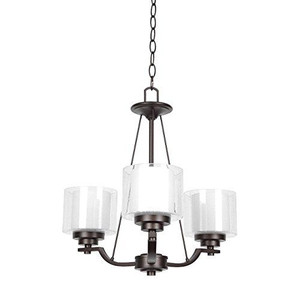 Sunset F17003-64 Abbot White Glass 3 Light Chandelier