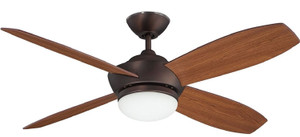 "Concord 52GA4EOBB Garvin 52"" Ceiling Fan with Light Kit & Remote"