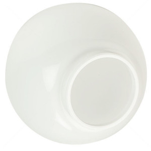 """Replacement White 10"""" Outdoor Acrylic Post Globe Cover 4"""" Lip"""