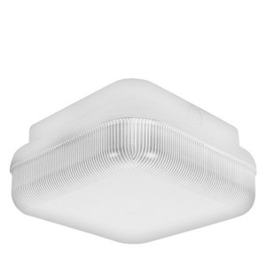 23W LED Square White Housing Dual Mount Frosted Polycarbonate Light 3000K