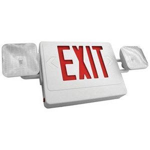 TCP 207232 LED Economy Combo Exit/Emergency Sign 2-Pack