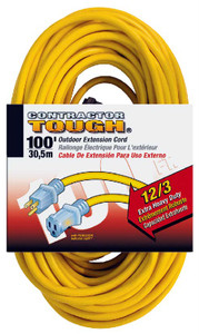 Bergen OC100123LT 100ft 12/3 Lighted Ends Extension Cord