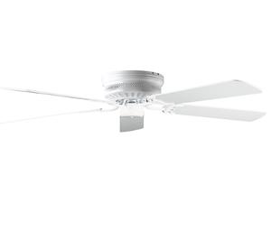 """Sunset CF52142-30 52"""" 5-White Blades White Hugger Ceiling Fan"""