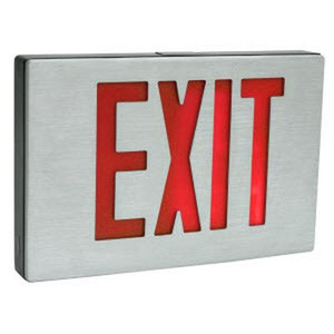 TCP 26D90 3.6W Red Single Face Exit and Emergency Light