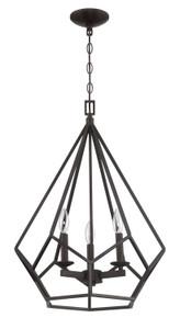 Sunset F3423-64 Lyric Provincial Bronze Metal 3 Light Cage Pendant