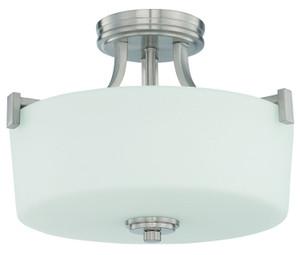 Sunset F18016-80 Dalton Opal Etched Glass 3 Light Semi Flush Overhead Light Fixture