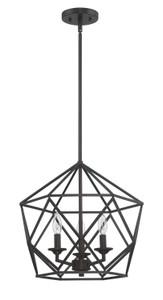 Sunset F3418-64 Harmony Provincial Bronze Metal 3 Light Cage Pendant