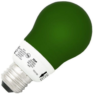 TCP 8A08GR 8W A19 Green Bug Dimmable CCFL Self Ballasted Lamp