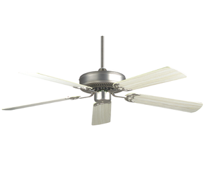 "Sunset  CF52242-53 52"" 5-Silver Oak/Rosewood Blades Satin Nickel California Home Dual Mount Ceiling Fan"