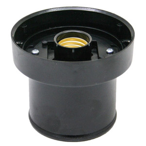 Black Post Top Fitter for 4 Inch Twist Lock Lamp Post Globes