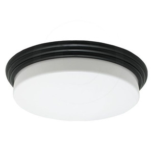33W LED White Acrylic Lens Elegant Black Trim Indoor Overhead Light 2700K