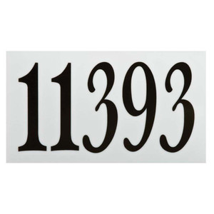 """Sunset K4521 Brown Finish Small Address Panel With 4"""" Numbers"""