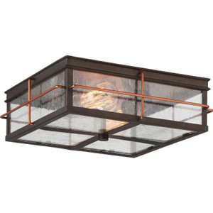 Nuvo 60-5834 Bronze with Copper 2 Light Ceiling Mount Fixture