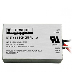 Keystone KTET-60-1-SCP-DIM-AL 60W Halogen Transformer | Dimmable