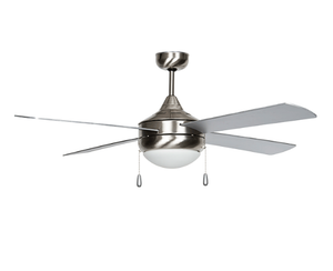 """Sunset CF52374-50-ES-LED 52"""" 4-Chrome Blades Stainless Steel Centurion Ceiling Fan with LED Light"""