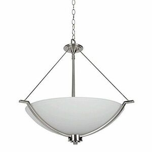 Sunset F17007-80 Abbot White Glass 3 Light Pendant