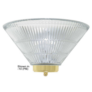 Sunset F9045-01 Clear Prismatic Glass 1 Light Vanity Light Quarter Sconce Fixture