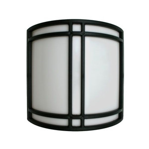 18W LED White Panel Acrylic Curved Wall Sconce Black Trim 3000K