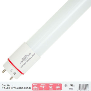 Keystone KT-LED18T8-48GC-865-D 18W LED T8 Tube Retrofit Direct