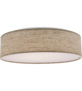 "Nuvo Lighting 62-985 Beige 1 Light 15"" Fabric Drum LED Decor Flush Mount"